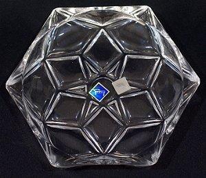 Petisqueira Hexagonal Cristal Bruxelas
