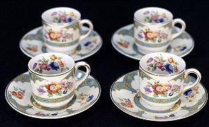 Conjunto De 4 Xícaras Para Café Porcelana Pareek
