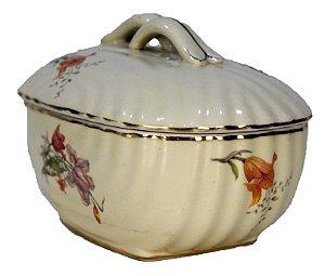 Potiche Português Em Porcelana Pintada a Mão