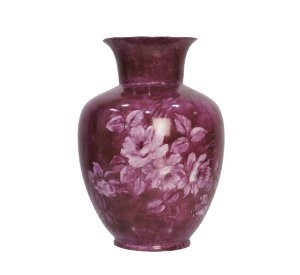 Vaso de Porcelana Pintado à Mão Rosa