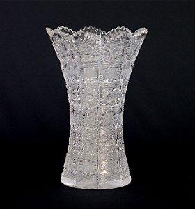Vaso de Cristal Tcheco Lapidação Feita a Mão