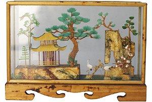 Objeto decorativo Japonês em Cortiça Aquário de Paisagem