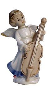 Bibelô Biscuit Porcelana Chinesa Anjo
