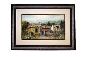 Quadro Pintura a Óleo Lazzarini 1984 35x60cm