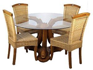 Conjunto para Sala de Jantar Mesa e 4 Cadeiras Filipinas