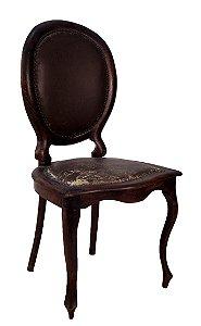 Cadeira Medalhão Estilo Chipandelle