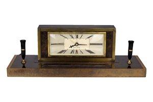 Porta Caneta Com Relógio Seth Thomas Made in U.S.A