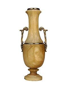 Ânfora Vaso em Alabastro e Bronze