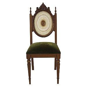 Cadeira Luis XVI Encosto de Telinha Cerejeira