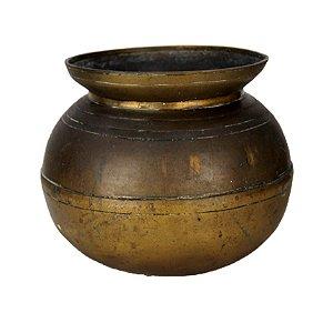 Vaso De Latão Antigo Década 20 Origem Vietnã