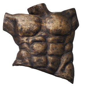 Escultura Em Bronze Torso Masculino Nu - Artista Luzia