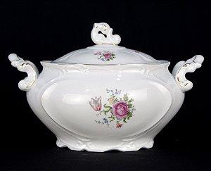 Sopeira Terrina Em Porcelana Schmidt Déc. 70