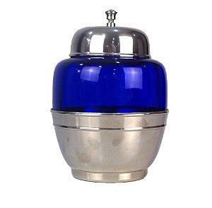Bomboniere Em Cristal Italiano Azul 20cm