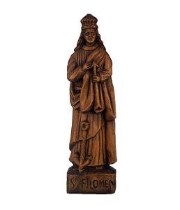Estátua Em Madeira Santa Filomena Arte Sacra 32cm