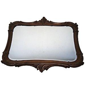 Espelho Estilo Luis Xv Bisotê Em Cristal