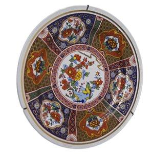 Prato de Parede Decorativo Porcelana Schmidt Arte Oriental