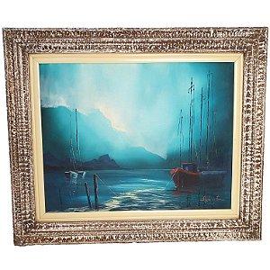 Quadro Pintura a Óleo Marina - Angelo Di Fiori 55x70cm