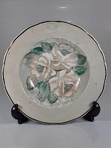 Prato em Porcelana Inter America Pintado a Mão