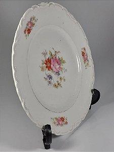 Prato em Porcelana Thun Decorado Em Flores