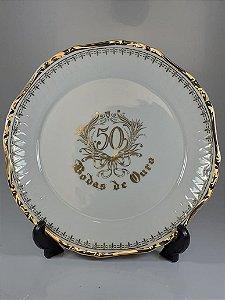 Prato Para Bolo em Porcelana Germer 50 Anos
