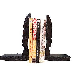 Aparador De Livros Em Ébano Esculpido