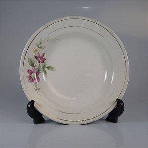 Prato em Porcelana Oxford Decorado Floral