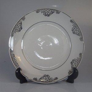 Prato em Porcelana Real Filetado Duplamente