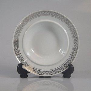 Prato de Sobremesa em Porcelana Real Decorada
