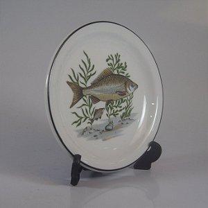 Prato de Sobremesa em Porcelana Schmidt Decorado