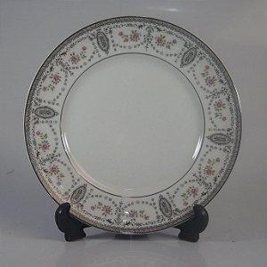 Prato de Sobremesa em Porcelana Real Decorado
