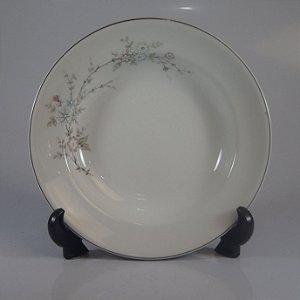 Prato em Porcelana Schimidt Decorado em Flores