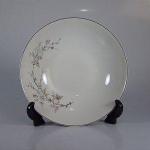 Travessa em Porcelana Schmidt Decorado em Cerejeiras