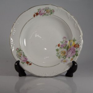 Prato em Porcelana Schimidt Decorado Flores
