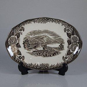 Travessa em Porcelana Drohaoser Filetado em Prata