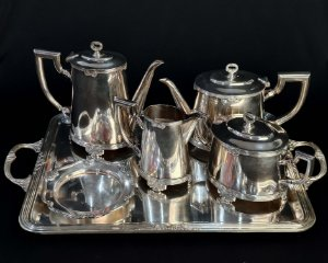 Serviço Para Chá e Café De Prata Fracalanza