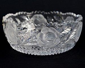 Bowl De Cristal Lapidado a Mão Origem Alemanha