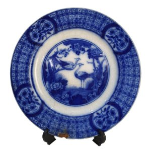 Prato De Sobremesa em Porcelana Borrão Azul Johnson Bros