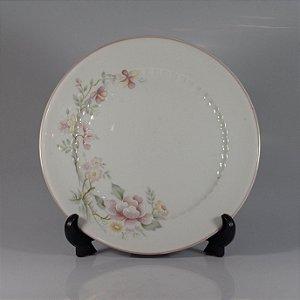 Prato em Porcelana Schmidt Decorado Floral