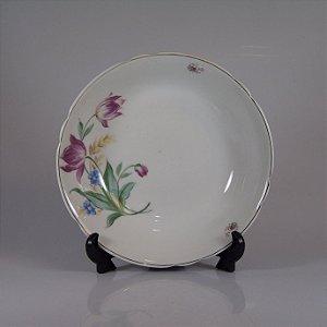 Saladeira em Porcelana Schmidt Decorada Floral