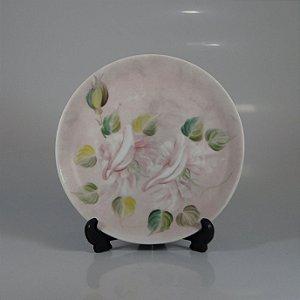 Prato de Sobremesa em Porcelana Steatita Pintado a Mão