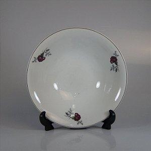 Saladeira em Porcelana Steatita Decorado em Floral
