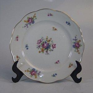 Prato Decorativo em Porcelana KPM Floral