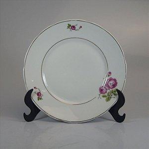 Prato de Sobremesa em Porcelana Real Floral