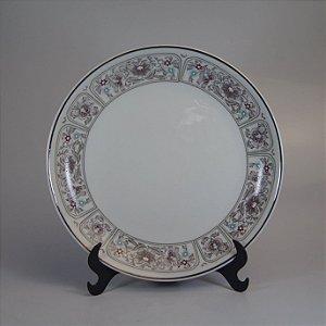 Prato para Bolo em Porcelana Steatita Decorado