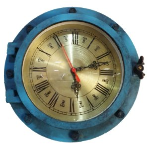 Relógio Escotilha De Navio Decoração Náutica Marinheiro