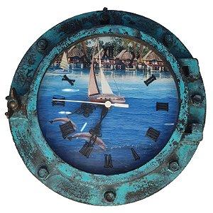 Relógio Escotilha De Navio Decoração Náutica
