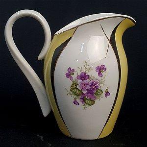 Leiteira em Porcelana Schmidt Filetada A Ouro