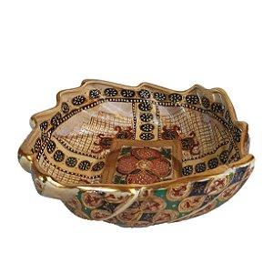 Bowl Tigela Em Porcelana Chinesa Pintada À Mão