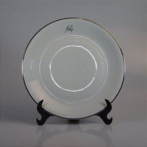 Prato em Porcelana Renner Filetado em Prata