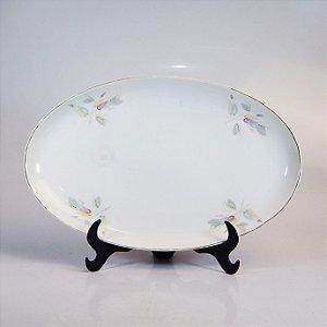 Travessa em Porcelana Steatita Floral